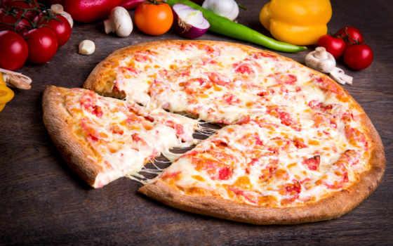 пицца, meal, блюдо, rolla, piece, сыр, соус,