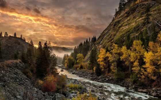 ёль, осень, гора, ущелье, free, лист, добавить, река, качественные, сделать, home