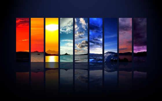 небо, sun, отражение