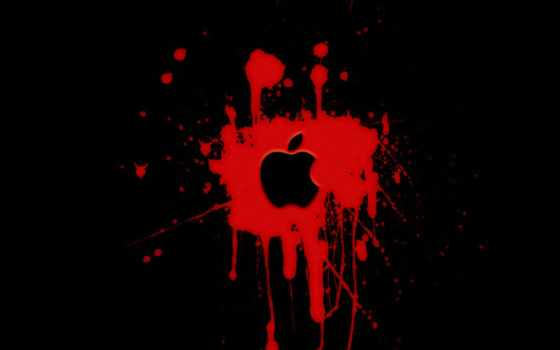 high, definition, apple, red, фон, black, бабочка,
