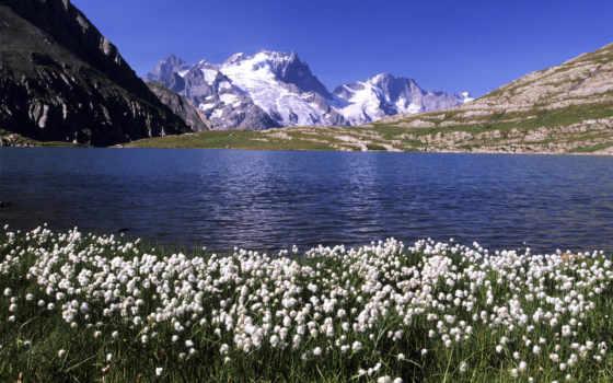 горы, озеро, горное, красивые, природа, гор, поляна,
