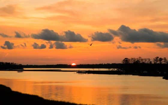 реке, закат, закате, опубликовано, природа, фото, eu, name, discover, game, www,