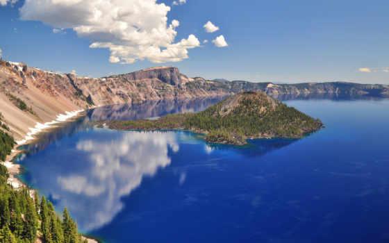 озеро, crater, радио, красивые, park, national, природа, кратере, online,