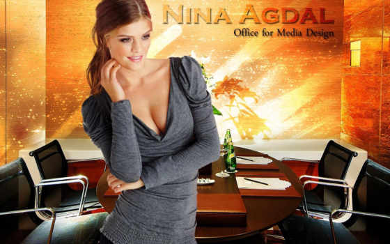 agdal, nina, офис, brunettes, women, зелёный,