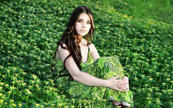 платье, девушка, платья, devushki, зеленом, платьях, wear, women, длинные, девушек, разных,