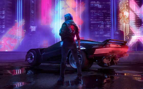 cyberpunk, art, game