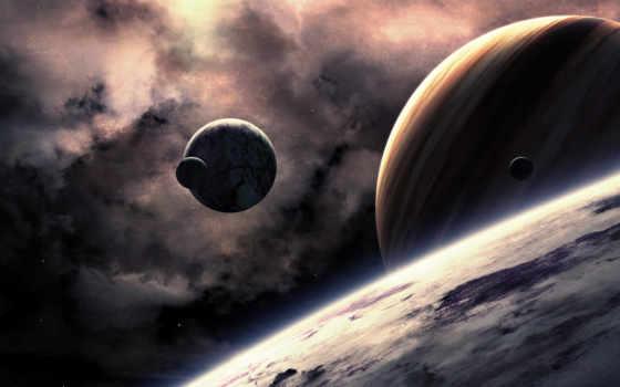 планеты, звезды Фон № 31613 разрешение 1920x1080