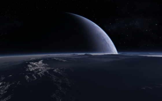 космос, гладь, атмосфера, горы, kosmos, жалюзи,