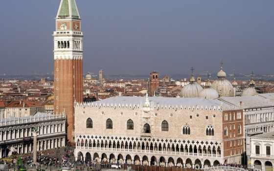 дворец, дожей, венеции