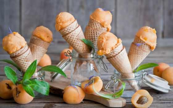 лед, мороженое, абрикос, uhd, other, views,