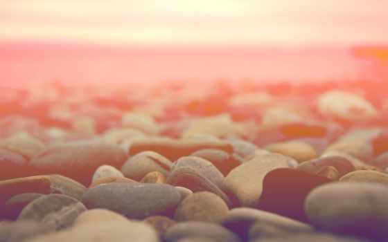 море, берег, скалистый, макро, природа, горизонт, камни,