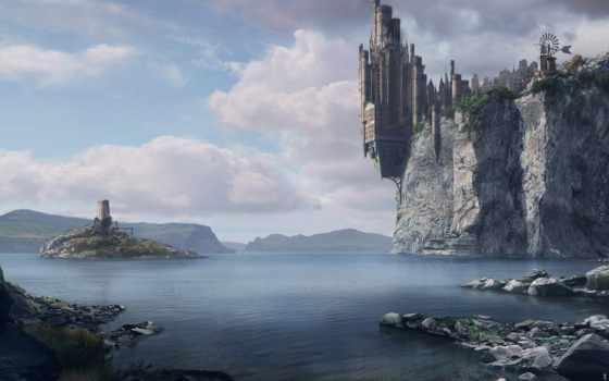 фэнтези, fortress, пейзажи -