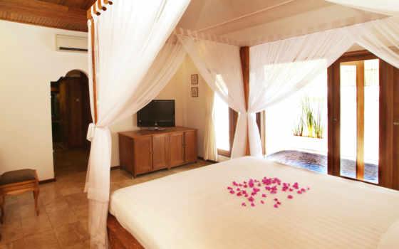 спальни, интерьер, романтической