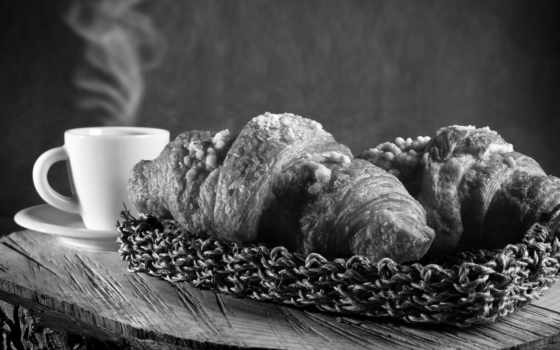 coffee, cup, pastries