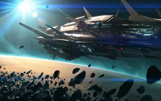 art, корабли, космические