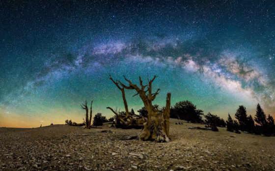 путь, млечный, galaxy, stars,
