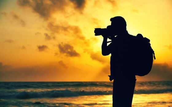 фотограф, фотография, stokovyi, бесплатный, videosemka, волна, мужчина, силует, shirokoformatnyi, большой, красивый