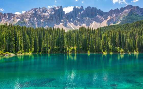 karersee, озеро, гора, italy, dolomite, carezza, природа, ski, durov, pavel, wide
