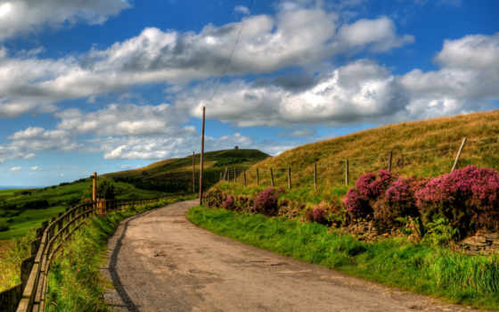 country, road, desktop