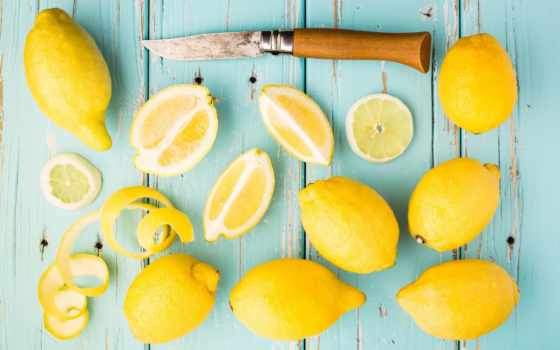 лимоны,нож,лимон,доски,
