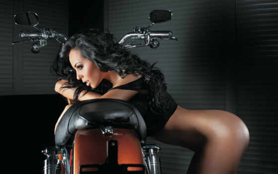 мотоциклы, девушки, мотоцикл