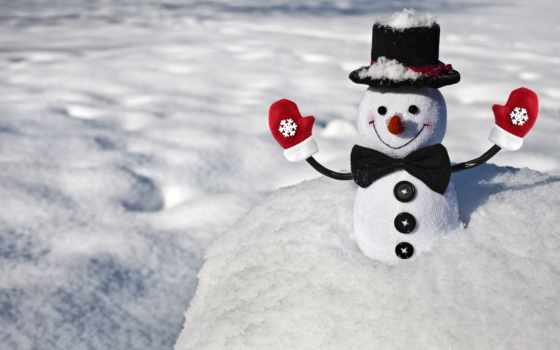 снеговик, снег, настроения, winter,
