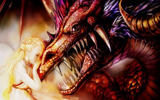 дракон, принцесса, dragons