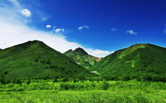 страница, каталог, клипарт, зеленые, mountains, растровый, декор, rom, клипарты, горы,