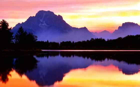 park, national, grand, teton, wyoming, mount, purple, pinterest, moran, гора,