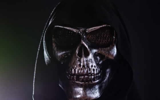 капюшон, картинка, череп, маска, free, ужас