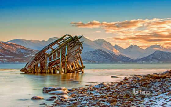 кораблекрушение, print, viking, tisne, близко, art, норвегия, даниэль, корабль, osterkamp