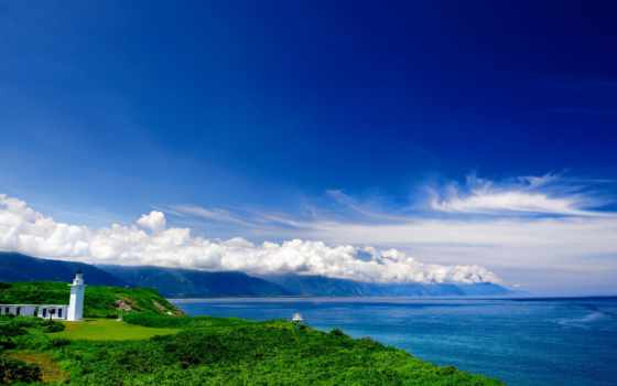природа, небо, море