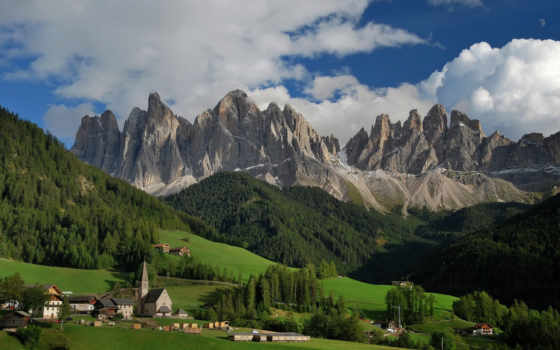 italy, горы, природа, landscape, санта, альпы, утро, отели, magdalena,