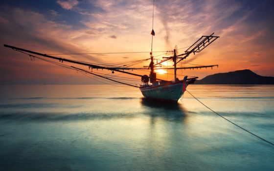 яхты, корабль, парусники