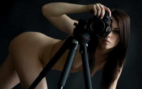 canon, девушка, фотоаппарат