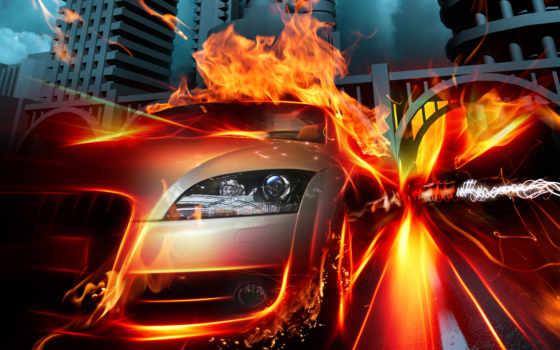 машина, скорость, горячая