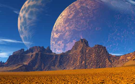 planet, песок, cosmos, космос, mountains, фото, mural, full, стена, print,