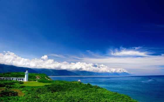 tapety, latarnia, morska, pulpit, morze, категории, znajdziesz, tapet, oblaka, maják,