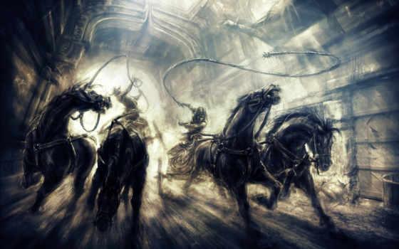 pursuit, prince, persia, thrones, два, широкоформатные, лошади, goodfon,