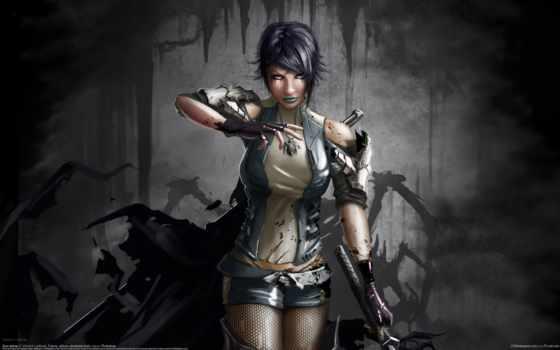 art, девушка, кровь, оружие, меч, anime, оружием, ptitvinc, трусы,