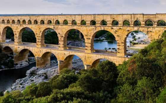 акведук, древнеримский, гар, everything, plumbing, городе,