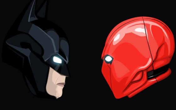 red, капюшон, batman, resolutions, dark, black, minimal,