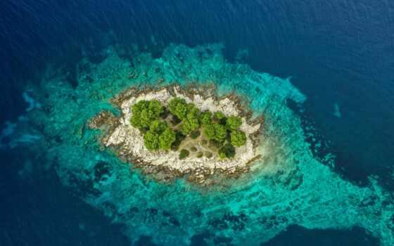 bora, vista, isla, остров, взгляд, cima, любой, check