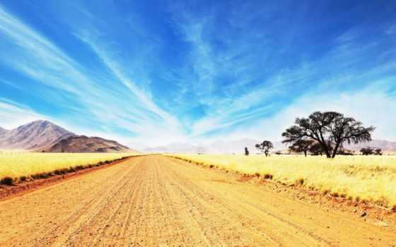 desert, deserts, road