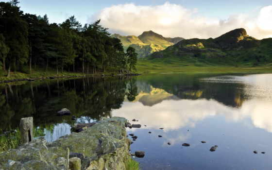 природа, лес, горы, trees, озеро, browse, широкоформатные, рисунки, небо, climate,