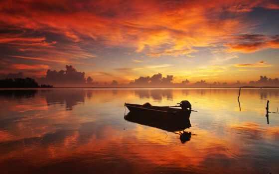 лодка, закат, озеро, лодка, небо, russo, переживания, slonca, youtube,