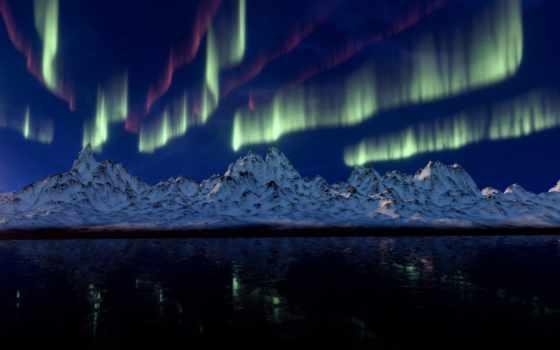 сияние, northern, free, палуба, aurora, telephone
