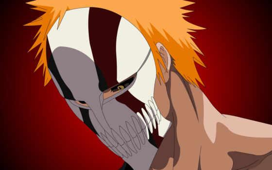 маска, ложбинка, new, bleach, anime, arc