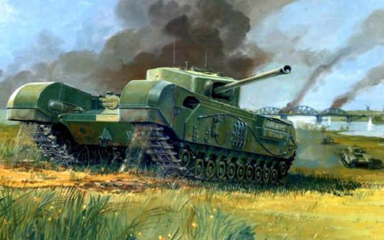 танк, мост