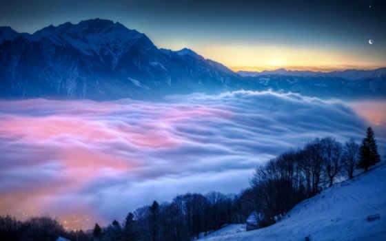 красивый туман в горах